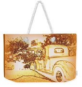 A And W Drive In Weekender Tote Bag by Bobbee Rickard