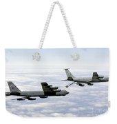 A B-52h Stratofortress Refuels Weekender Tote Bag by Erik Roelofs