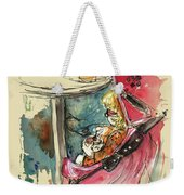 A Baby At A Cafe Weekender Tote Bag