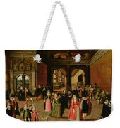 A Ball During The Reign Of Henri Iv Oil On Panel Weekender Tote Bag