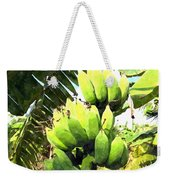 A Banana Field In Late Afternoon Sunlight With Sky And Clouds Weekender Tote Bag