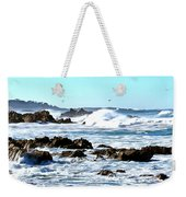 Seascape And Sea Gulls Weekender Tote Bag