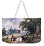 A Barge On The Stour Weekender Tote Bag