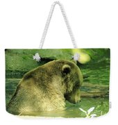 A Bear Bath Weekender Tote Bag