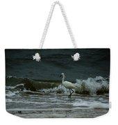 A Beautiful Snowy White Egret On Hilton Head Island Beach Weekender Tote Bag