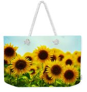 A Beautiful Sunflower Field Weekender Tote Bag