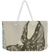 A Beauty In A Black Kimono Weekender Tote Bag