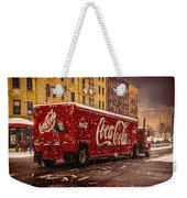 A Big Red Truck In The Barrio Weekender Tote Bag