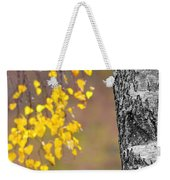A Birch At The Lake Weekender Tote Bag