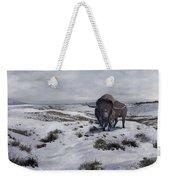 A Bison Latifrons In A Winter Landscape Weekender Tote Bag