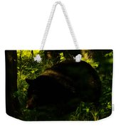 A Black Bear Weekender Tote Bag