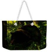 A Black Bear Weekender Tote Bag