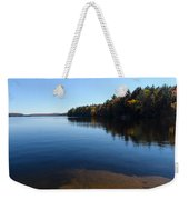 A Blue Autumn Afternoon - Algonquin Lake Tranquility Weekender Tote Bag