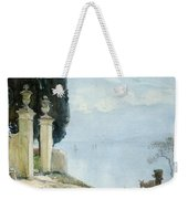 A Blue Day On Como Weekender Tote Bag