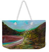 A Boat And A Seamless Sky Weekender Tote Bag
