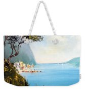 A Boat On The Beach Weekender Tote Bag by Lee Piper
