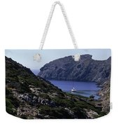 A Boat Sailing In The Valley Weekender Tote Bag