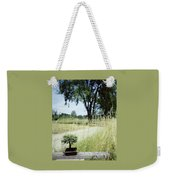 A Bonsai Tree In A Hayfield Weekender Tote Bag