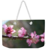 A Bough Of Blurred Peach Blossom Weekender Tote Bag
