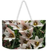 A Bouquet Of Miniature Tulips Celebrating The Spring Season - Vertical Weekender Tote Bag