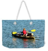 A Boy And His Canoe Weekender Tote Bag