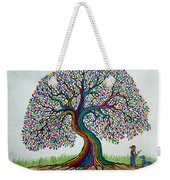A Boy His Dog And Rainbow Tree Dreams Weekender Tote Bag