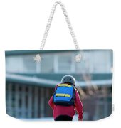 A Boy Rides His Skateboard In Lake Weekender Tote Bag