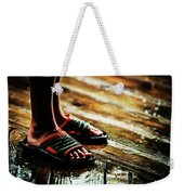 A Boys Wet Feet In Sandals Weekender Tote Bag