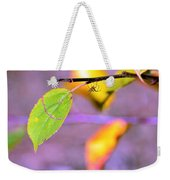 A Branch With Leaves Weekender Tote Bag by Tommytechno Sweden
