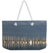 A Break In The Clouds - White Yachts Gray Sky Weekender Tote Bag