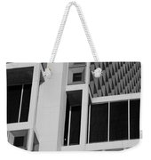 A Break In The Glass In Black And White Weekender Tote Bag