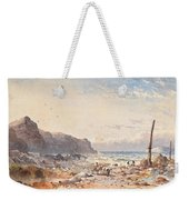 A Breezy Day With Fisherfolk On The Foreshore Weekender Tote Bag