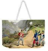 A British Soldier Taking Two French Weekender Tote Bag by John Augustus Atkinson