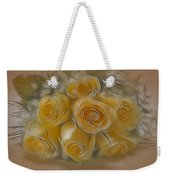 A Bunch Of Yellow Roses Weekender Tote Bag by Susan Candelario