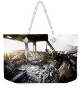 A Burned Out Truck At Sunset Weekender Tote Bag