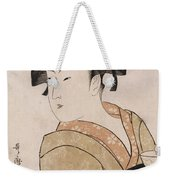 A Bust Portrait Of The Waitress Okita Of The Naniwaya Teahouse Weekender Tote Bag