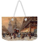 A Busy Boulevard Near The Place De La Republique Paris Weekender Tote Bag