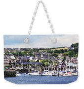 A Busy Harbour And Waterfrontkinsale Weekender Tote Bag