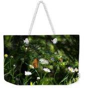 A Butterfly's World Weekender Tote Bag by Belinda Greb