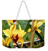 A Cage Of Canary Cymbidiums Weekender Tote Bag