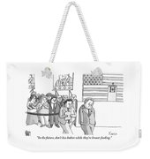 A Campaign Manager Speaks To A Bashful Politician Weekender Tote Bag by Zachary Kanin
