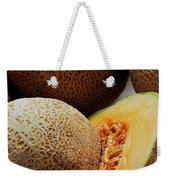 A Cantaloupe Sliced In Half Weekender Tote Bag