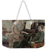 A Captive Audience Weekender Tote Bag by Frederic Samuel Cordey
