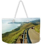 A Car Descends Conzelman Road Weekender Tote Bag