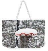 A Cardinal Winter Weekender Tote Bag