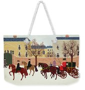 A Carriage Escorted By Police Weekender Tote Bag