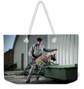 A Caucasian, Male Air Force Security Weekender Tote Bag