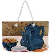 A Chinese Tea Pot With Tea And Cookies Weekender Tote Bag