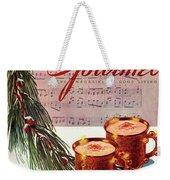 A Christmas Gourmet Cover Weekender Tote Bag