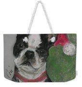 A Christmas Terrier Weekender Tote Bag